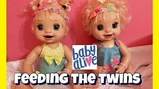 Baby Alive Feeding baby alive learns to potty 2007 twins Isla and Ella