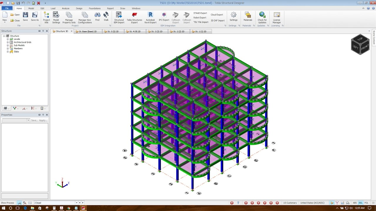 Modeling in Tekla Structural Designer 2016-Part1