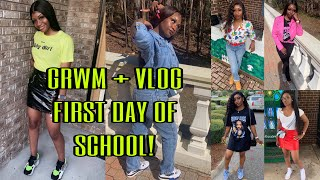 GRWM: FIRST DAY OF SCHOOL + VLOG | Junior Year ♡