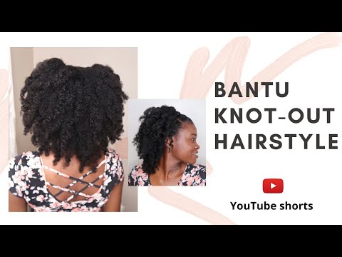bantu-knot-out-hairstyle-on-4b/4c-hair-#shorts-#youtubeshorts