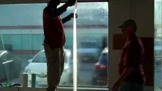 """DIY-How To Install Security Window Film-part 3 """"Applying Film"""" Of 3"""