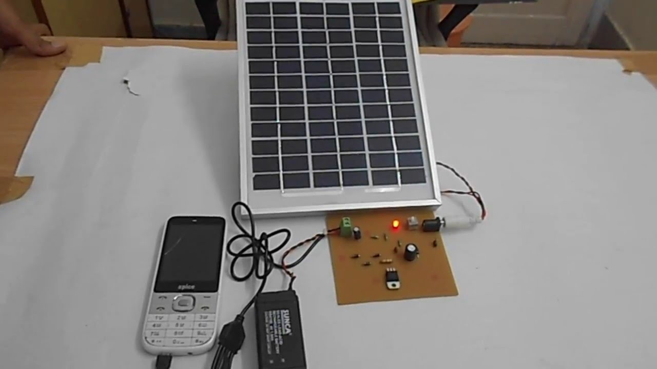 Solar Charger Circuit Without Microcontroller Electronic Circuit