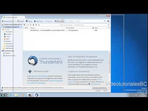 Mozilla Thunderbird -Como tener todas las cuentas de correos electronicos en el escritorio.