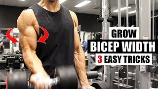 BICEP WIDTH- This is how I get 3 dimensional biceps [3 Bonus Exercises]