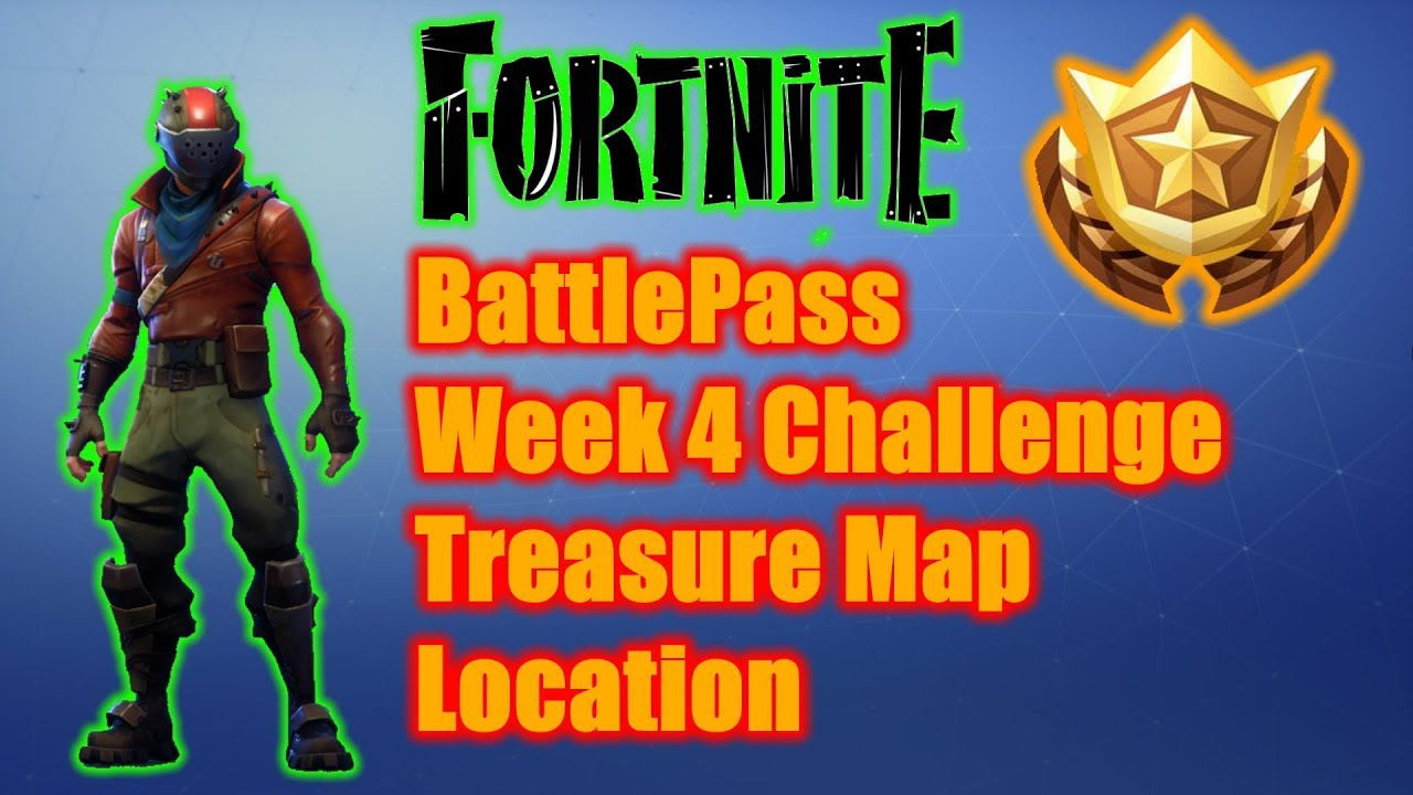 Fortnite BattlePass Week 4 Treasure Map Challenge Location
