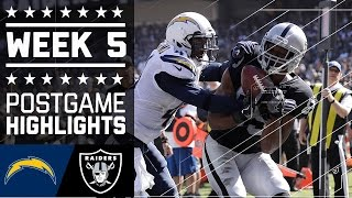 Chargers vs. Raiders | NFL Week 5 Game Highlights