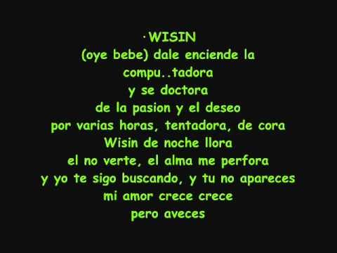 letra de my space don omar y wisin y: