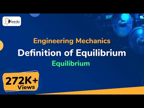 Definition of Equilibrium - Equilibrium of Coplanar Forces - Engineering Mechanics - First Year Engg