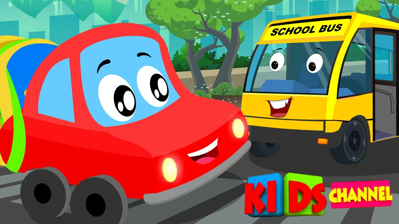 Color car with most accidents - Little Red Car Colors Cars Song Nursery Rhymes Songs For Kids Car Cartoons