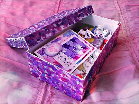 своими руками украсить коробку на день святого валентина