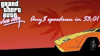 Grand Theft Auto: Vice City any% speedrun in 53:01
