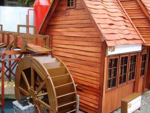 G Scale Railway Model Water Mill.