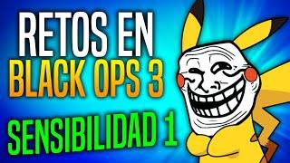 ¡GANANDO CON LA SENSIBILIDAD AL 1! RETOS EN BLACK OPS 3 | RANDOM CHALLENGE #1 | PIKAHIMOVIC
