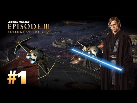 Star Wars Episode 3 Revenge Of The Sith Ps2 Walkthrough Part 1 Rescue Over Coruscant Youtube