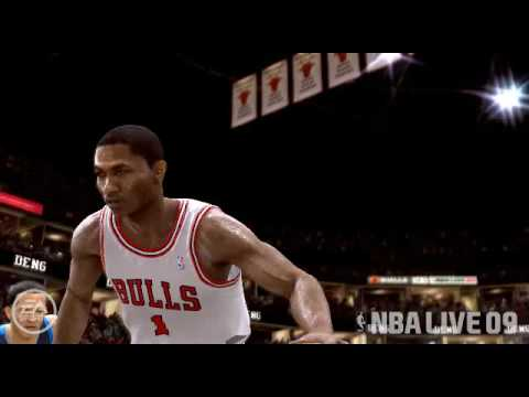 4ddd13cdd9f DERRICK ROSE ..CROSSOVER REVERSE DOUBLE SPIN LAY-UP!!!!NBA LIVE 09 ...