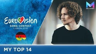 Eurovision 2018 - MY TOP 14 (so far) | & comments
