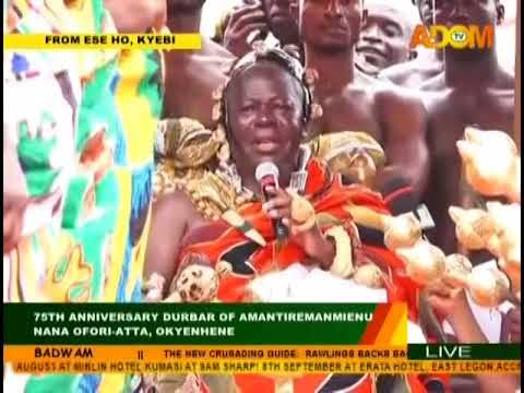 Asantehene Osei Tutu II addresses Durbar on Adom TV (23-8-18)