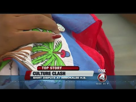 Immokalee students Haitian flag day