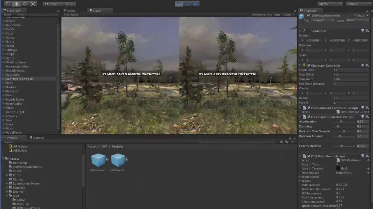 Oculus Rift Plugin in Unity 3d Setup