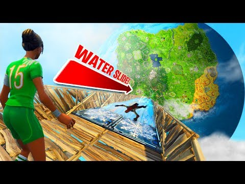 WORLDS BIGGEST WATER SLIDE WITH NEW ICE TRAP CHILLER in Fortnite Battle Royale!