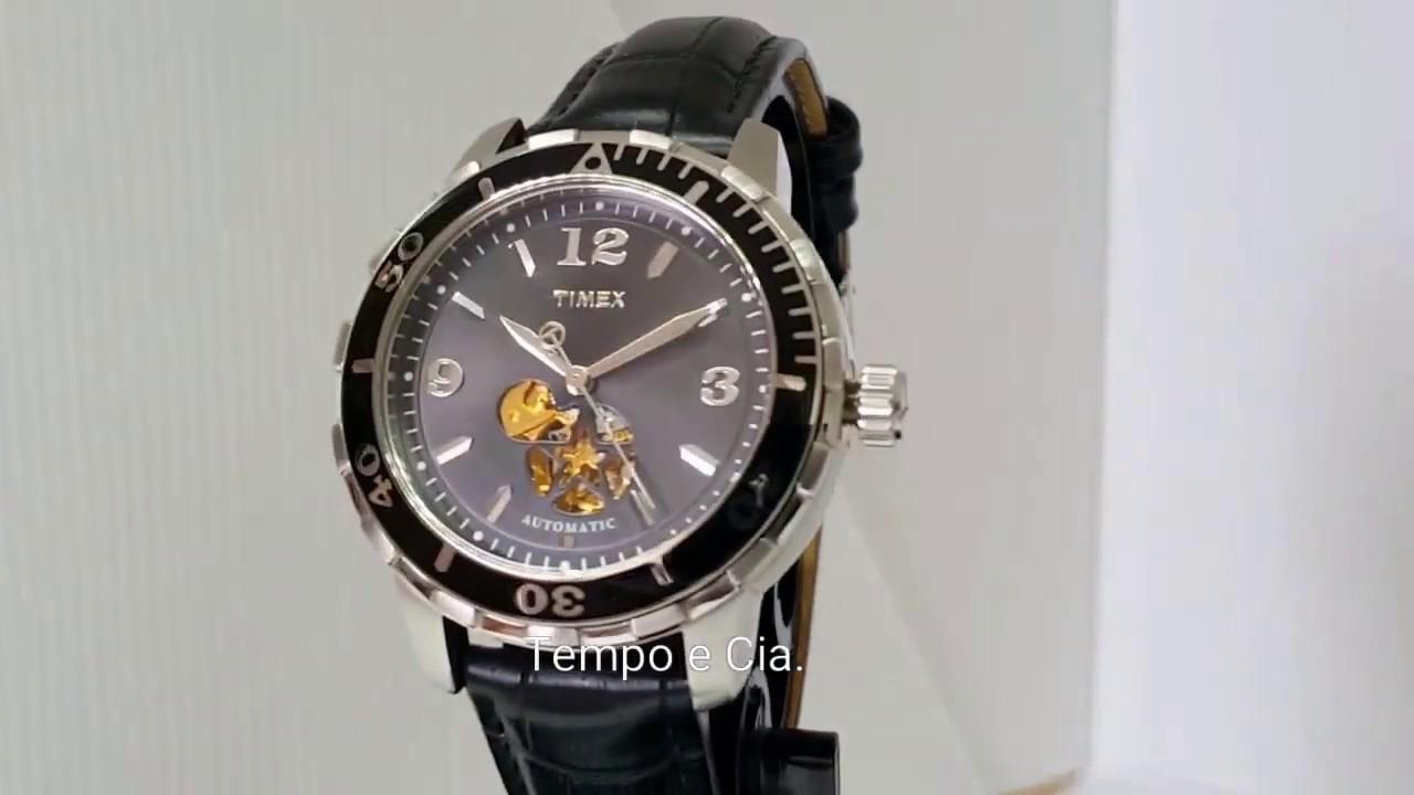 cfa358d4a28 Relógio Automático Timex Unissex T2M509 - YouTube