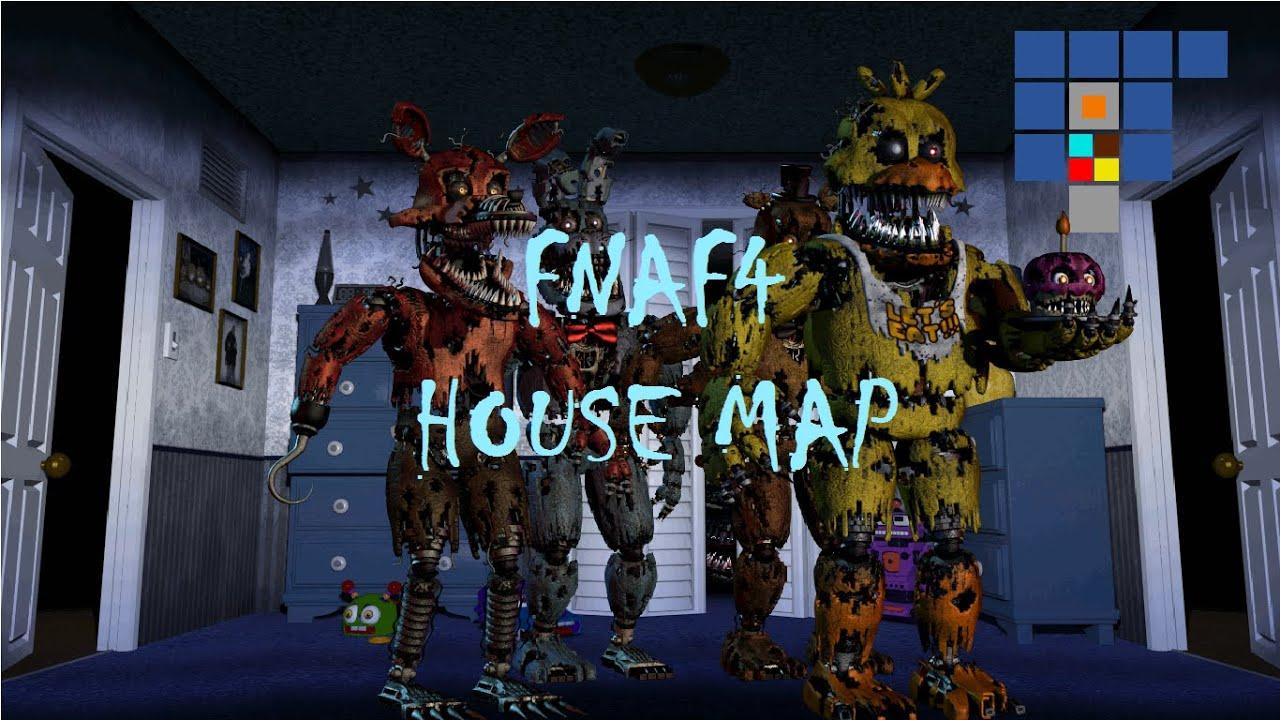 fnaf 4 mod apk house map