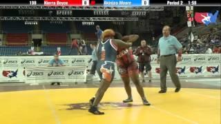 Fargo 2012 198 Round 2: Kierra Boyce (Texas) vs. Akinjaa Moore (Illinois)