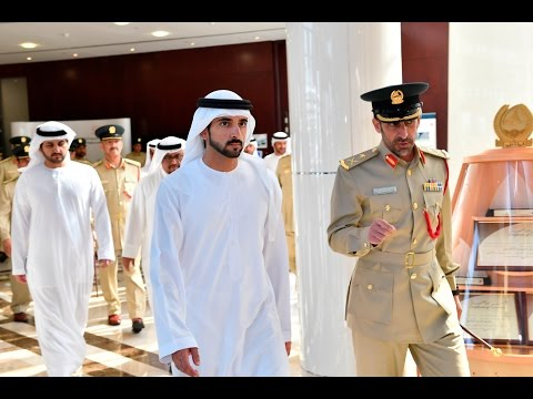 حمدان بن محمد بن راشد يزور مقر القيادة العامة لشرطة دبي