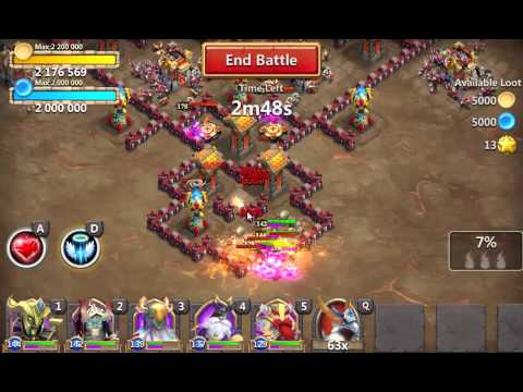 Castle Clash - Farming The 35 Shards Dungeon.