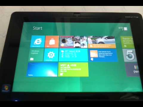 Windows 8 in Acer W500 ICONIA TAB