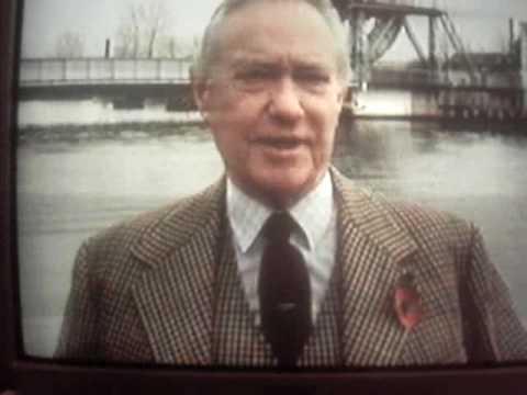 DEMOLITION OF PEGASUS BRIDGE, NORMANDY 1994 ACTOR RICHARD TODD INTERVIEWED
