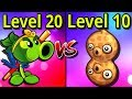 Plants vs Zombies 2 Repeater vs Pea Nut MAX Levels Gameplay Plantas contra Zombies 2