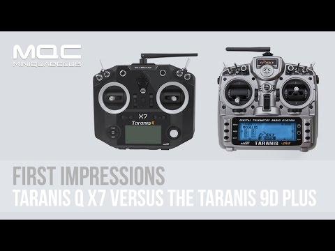 FrSky Taranis Q X7 vs FrSky Taranis X9D Plus: Unboxing & First Impressions