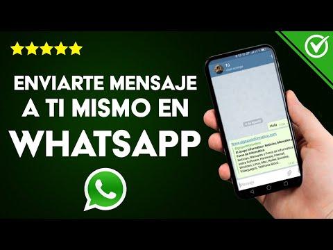 Cómo Enviarse un Mensaje de WhatsApp o Telegram uno Mismo en Android o iPhone
