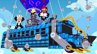 Wir fliegen den Fortnite Battle Bus aus Plural Blöcken 😂