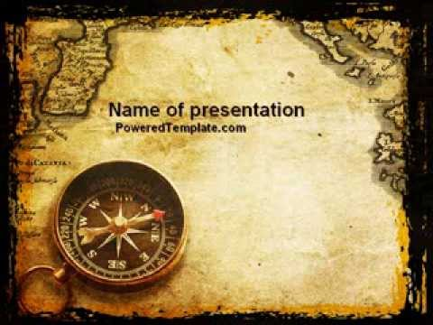 Old Map Powerpoint Template By Poweredtemplate.Com - Youtube