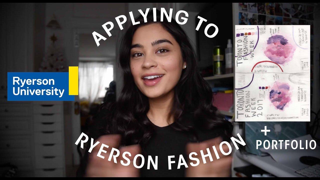 Ryerson Fashion Application Portfolio Advice Youtube