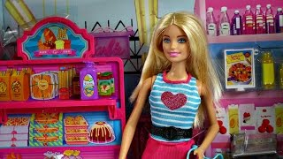 Barbie Malibu Ave Grocery Store with Barbie Doll Playset / Sklep Spożywczy z Lalką - CLG06 CKP77