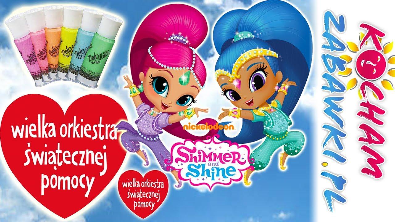 Shimmer & Shine • Ozdabiamy serca WOŚP • Play Doh Vinci • bajki i kreatywne zabawy