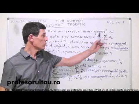 Analiza Matematica - Anul I Facultate - Serii Numerice - Rezumat Teoretic