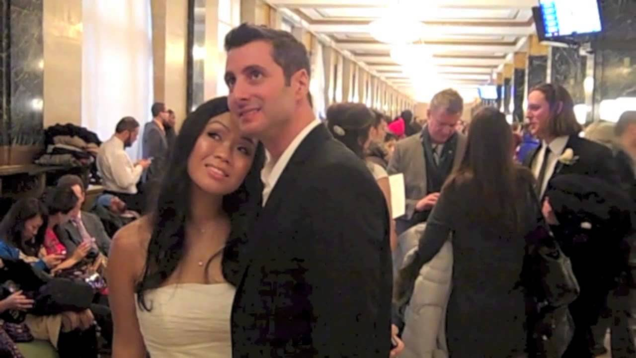 Our new york city hall wedding 12 12 12 youtube for City hall wedding dresses nyc