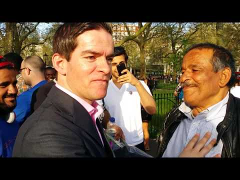 Muslims Attacked Homeless Preacher - Speakers Corner Hyde Park London 8-5-16. (3)