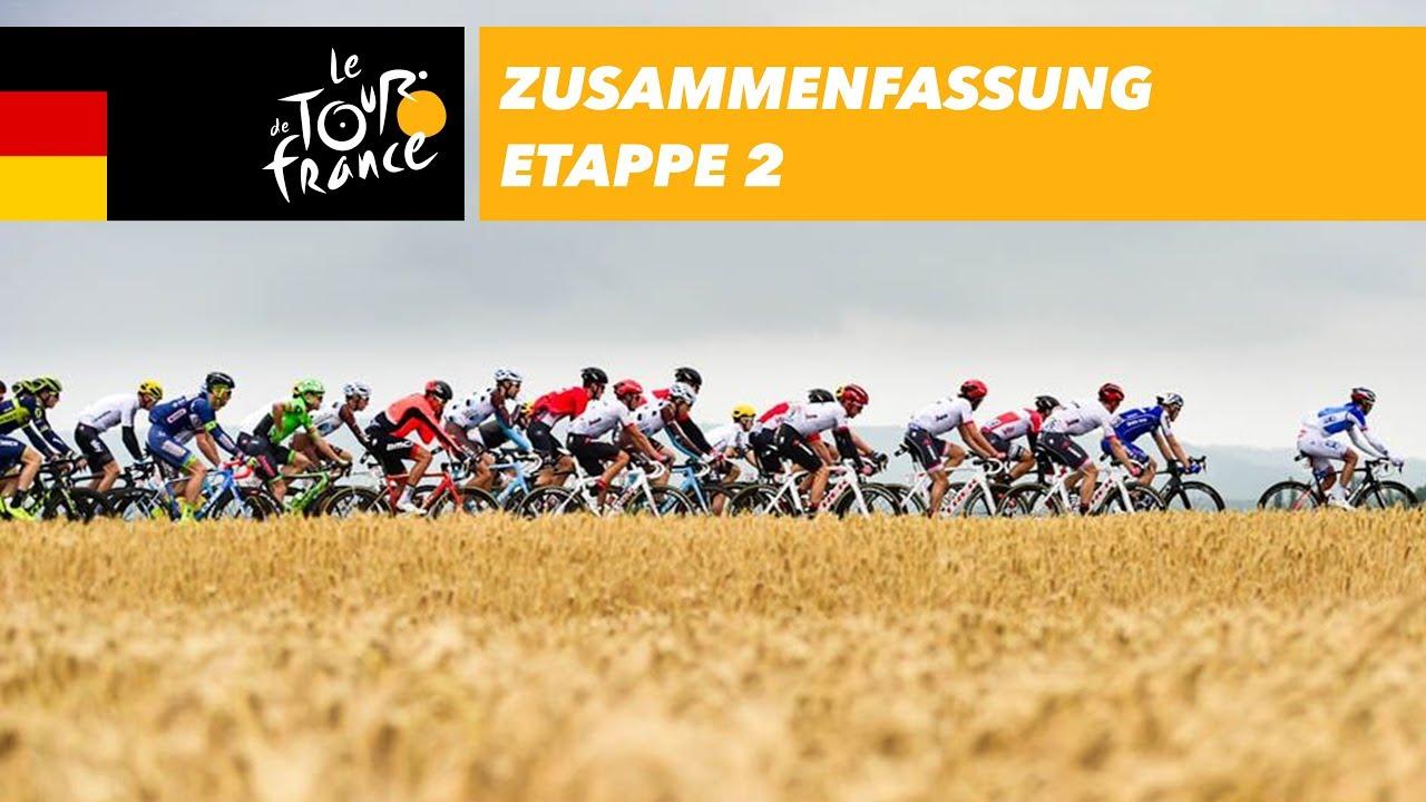 Zusammenfassung Etappe 2 Tour De France 2017 Youtube