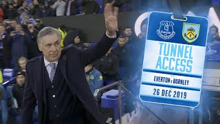 GOODISON ERUPTS ON ANCELOTTI'S WINNING START | TUNNEL ACCESS: EVERTON V BURNLEY