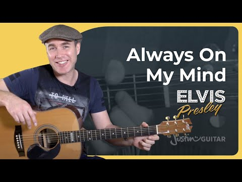 Always On My Mind - Elvis Presley - Beginner Easy Guitar Lesson Tutorial (BS-921)