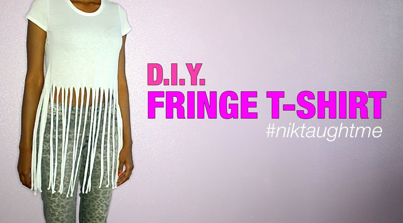 How to make a fringe t shirt nik scott youtube for How to create a t shirt