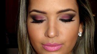 Maquiagem usando Pink por Mayara Cristina