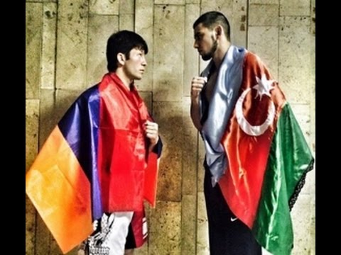 Альберт Казарян - Армянский боец посвятил победу армянским солдатам ... !!!!!!!