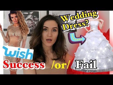 TRYING ON WISH PROM DRESSES!! IS IT ACTUALLY A SCAM? *Success & Fails*