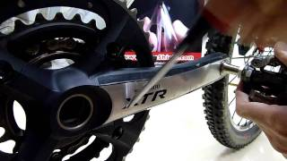 RACEshield - Abrasion test on Shimano XTR FC-M970 crank arm
